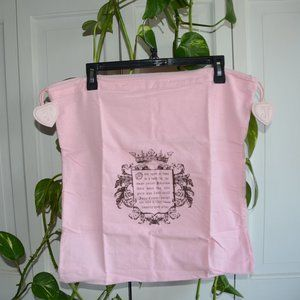 NEW XL Juicy Couture flannel dust bag pink